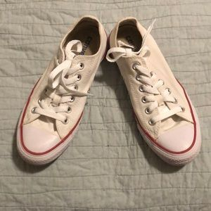 Cream Colored Converse All Star Low Tops